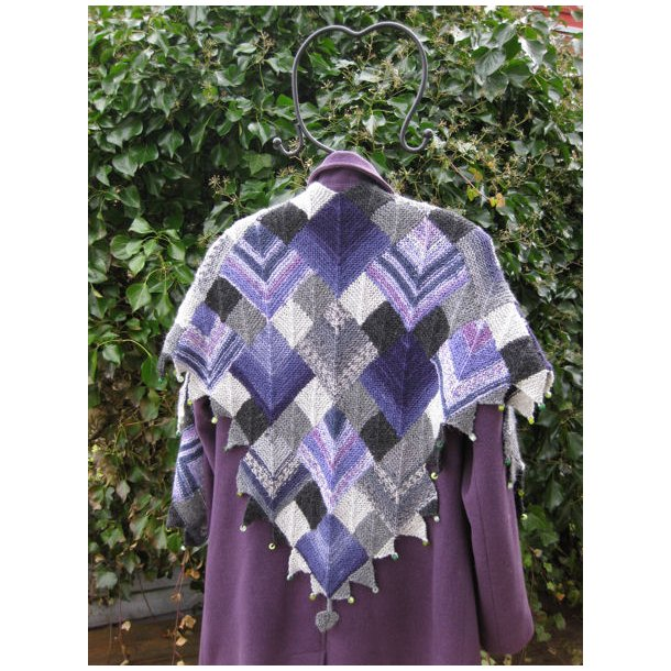 Domino-Mystery-Shawl - Trin-for-trin kursus - OPSKRIFT!
