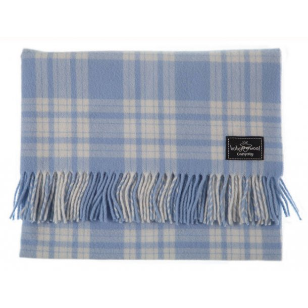 Check Lambswool - soft blue