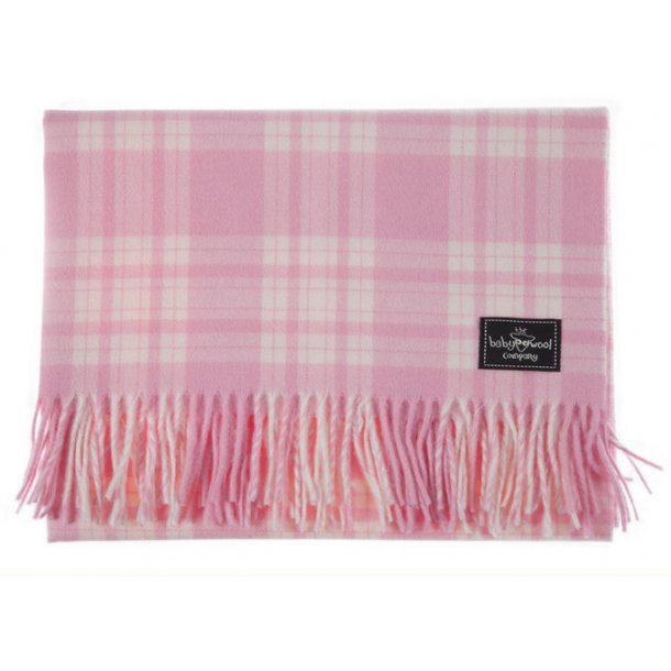 Check Lambswool - soft pink
