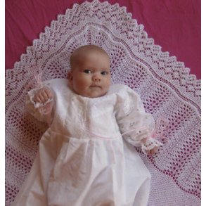 Patterns for European Royal Baby Shawls in Danish